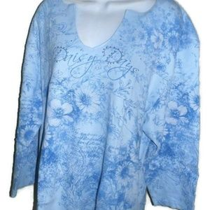 Women's Plus SIZE 2X Shirt Embellished *Price Firm